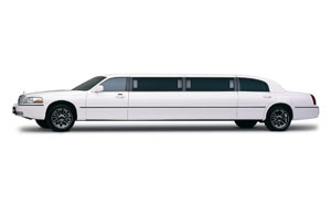 White Stretch Lincoln Limousine
